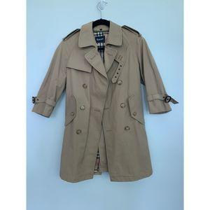 EUC Gant Trench Coat Tan Short Sleeve UK 8
